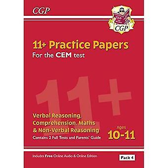 Nye 11 + Cem øvelses papirer: aldre 10-11-Pack 4 (med forældre ' Guide & online udgave)