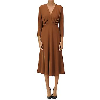 Le Col Group Ezgl189008 Women's Brown Cotton Dress