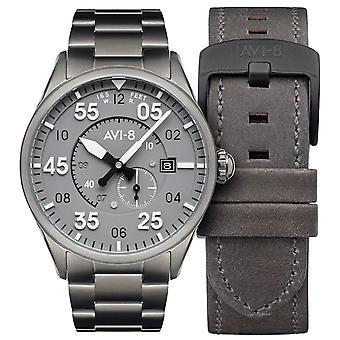 AVI-8 Spitfire Watch - Gunmetal/Harmaa