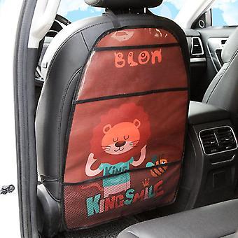 Cartoon Seat Cover Kid Anti-kick Mat Touch Screen Storage Bag Waterproof