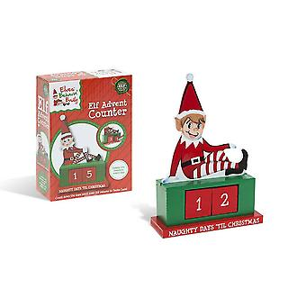 Wooden Traditional Christmas Naughty Elf Advent Calendar
