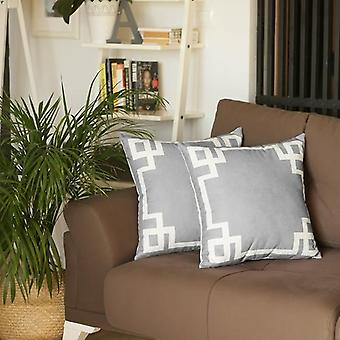 Geometric Square Throw Pillow Cover