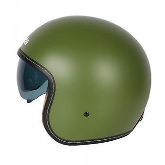 Spada Raze Open Face Helmet Matt Green Intégré Sun Visière
