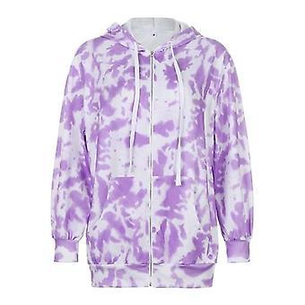 Tie-Dye gedruckt Frauen Jacke Mantel