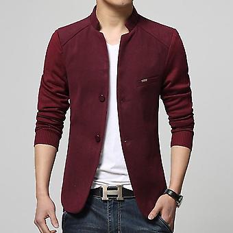 Patchwork Anzüge, Blazer s Slim Fit, Wolle Auskleidung Mantel, Kostüm