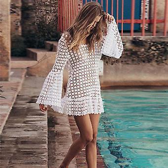 شاطئ مشى فستان سريع التجفيف قفطان بيتش تغطية بيكيني كبير الحجم