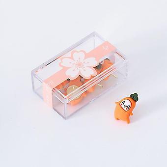 5pcs/box Cute Thumbtacks - Anti-rust Metal Pins