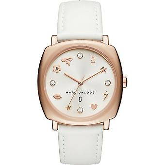 Marc Jacobs MJ8678 'Mandy' Crystal White Leather Women's Watch