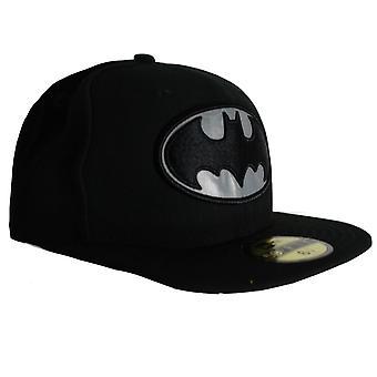 עידן חדש 9Fifty באטמן גיבור לשקף כובע מצויד כובע שחור