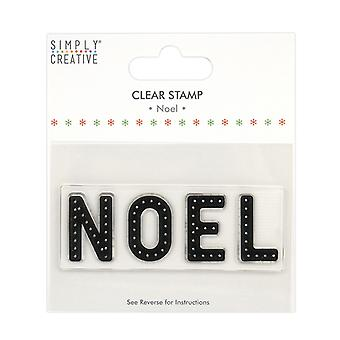 Simply Creative Noel Large Clear Stamps