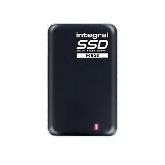 Integral 960gb portable ssd drive usb 3.0 external ssd black 960 gb