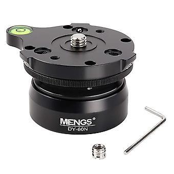 Mengs dy-60n 60mm stativ nivellering base bold kamera leveller 3/8-tommer med offset boble niveau, hældning