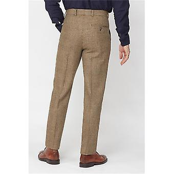 Fawn Glen Check Suit Trousers