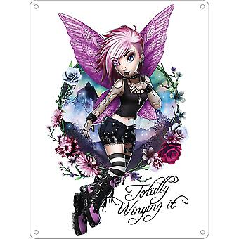 Hexxie Totally Winging It Mini Violet Plaque