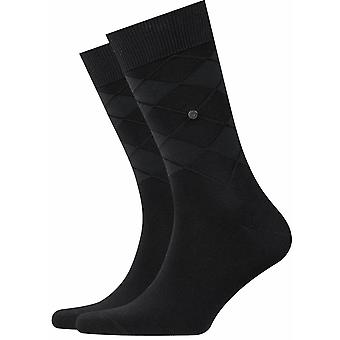 Burlington Rhomb Socks - Black