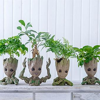 Flower Pot Baby Groot  Big Cute Toy Pen Holder Pvc Baby Tree Man Garden Plant