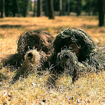 Unisex Child Hunting Ghillie Suit Camo Woodland Camouflage Forest 3d Tactical