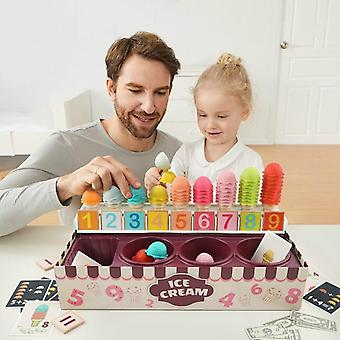 New Play House Ice Cream Math Kitchen For Educational Toy (light Grey)