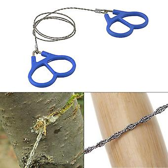 IPRee Camping Wire Saw Stainless Steel Travel Garden Branch Fretsaw Emergency Survival Gear