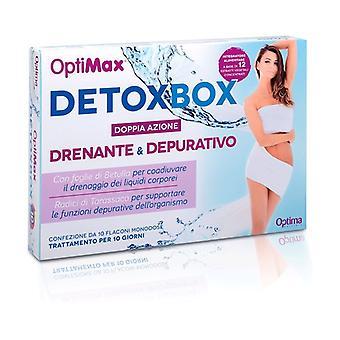 Optimax Draining Detoxbox 10 vials of 50ml