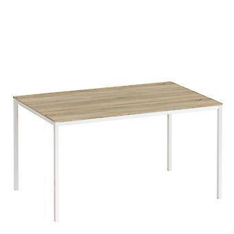 Folk Tabel 140Cm Oak Table Top Hvide Ben