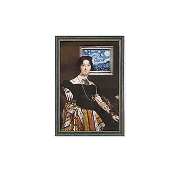 Painting Dekodonia Lady Framed (76 x 3 x 110 cm)