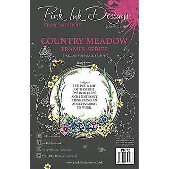 Pink Ink Designs Country Meadow A5 Clear Stamp Set
