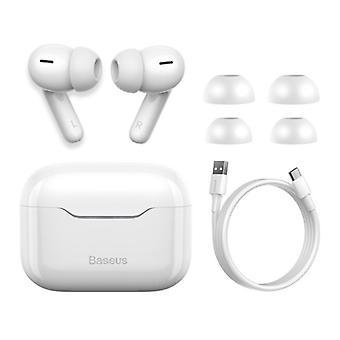 Auriculares inalámbricos Baseus S1 - ANC True Touch Control TWS Bluetooth 5.0 Auriculares Auriculares Auriculares Blanco