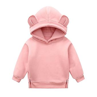 Vauva Talvi Kevään Villapaita, Söpö Korva Huppari Paksuunna Fleece Vaatteet