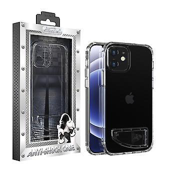 iPhone 12 Mini Hoesje Transparant - AntiShock en Standaard