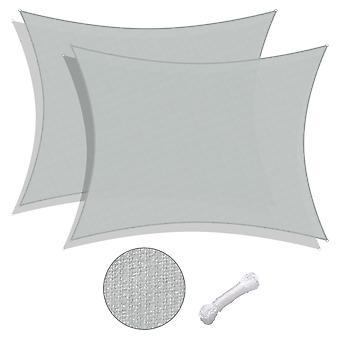Yescom 2 Pack 13x10 Ft 97% UV Block Rectangle Sun Shade Sail HDPE Canopy Cover Net Deck