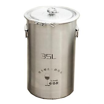 304 Rostfritt stål Fermentering Barrel Hem Brew Vin Öl Fermentorer 35l Utan kran
