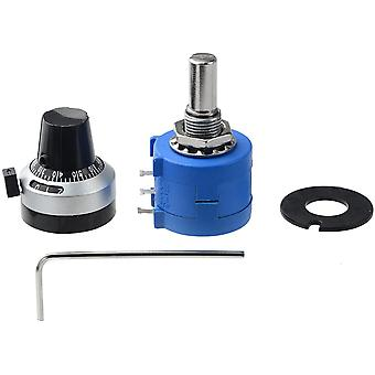 Precision Multiturn Potentiometer, 10-ring Resistor & 1pcs Turns Counting, Dial