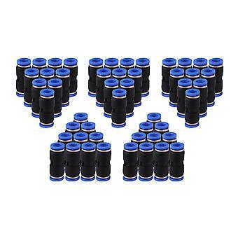 50 x Black 8mm Push In Straight Quick Fitting Connecteur pour tube pneumatique