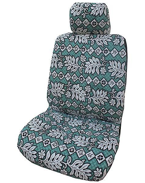 Side Airbag Optional; Monstera Fern Separate Headrests Hawaiian Car Seat Covers