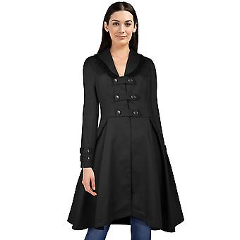 Chic Star Buckle Jacket In Black