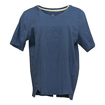 Isaac Mizrahi En direct! Women's Top Short Sleeve Tee Blue A379612