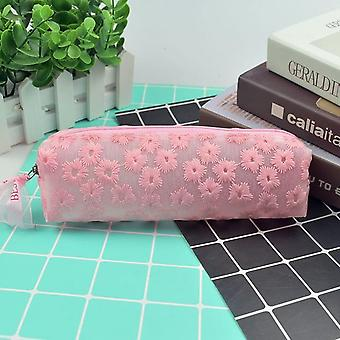 Transparent Daisy Pencil Case