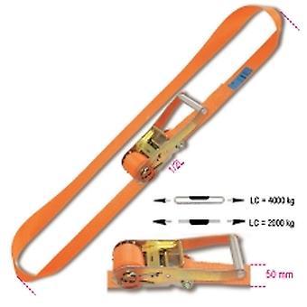 Beta 081870008 8187 50-MT8 Ring Ratchet Tie Down Lc 4000kg Hi-Ten Belt 50mmx8m
