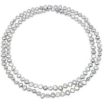 Pearls of the Orient Margarita Freshwater Pearl Loop Necklace - Grey