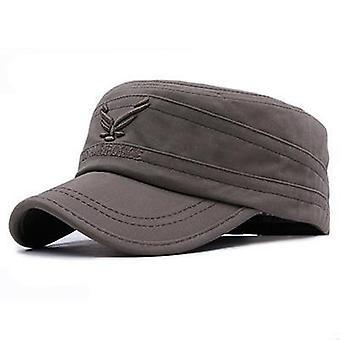 Eagle Flat Top Cap Mężczyźni Vintage Army Hat