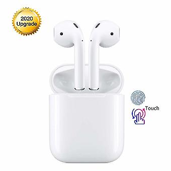 Bluetooth 5.0 TWS i12 Earphones Wireless Headphones 3D Stereo Sound Touch Control Pop-Ups Auto Pairing for Android / iOS Smart Phone Sports & Work Earphones IPX5 Waterproof-White