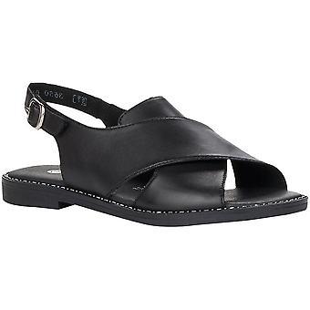 Black Casual Low Heel Sandals