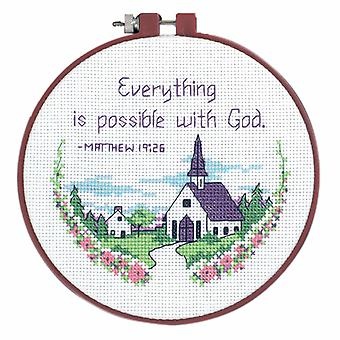 Afmetingen Learn-a-Craft: Counted Cross Stitch Kit met hoepel: Alles is poss