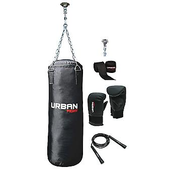 Urban Fight punch bag kit black