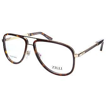 ZILLI glasögon Ram Titanacetat Guldskala Frankrike Tillverkad ZI 60020 C02