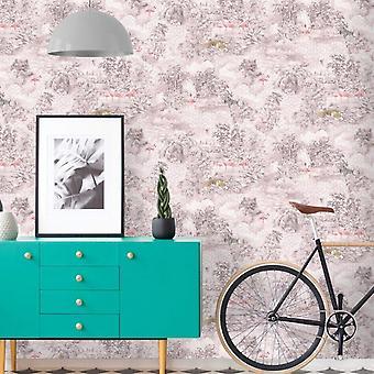 Mayang geometric jungle themed wallpaper