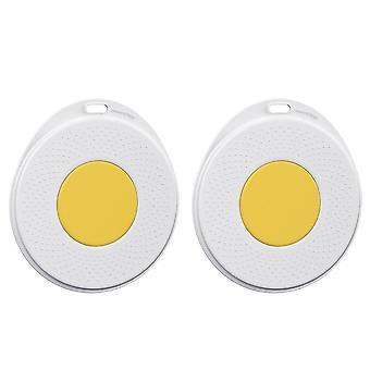 2 stuks egg design cup kussens decoratieve bestek pads onderzetters (wit, geel) |