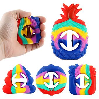 Mimigo 4pcs-stress Relief Squeezing Toy,fidget Snap Toy, Stress Relief Fidget Snap Toy,hand Grip Squeeze Grab Snap Pop Sensory Toys Party,relax Ther
