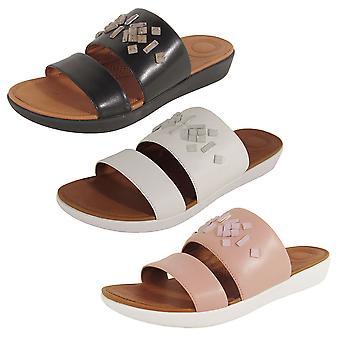 Scarpe sandalo in cristallo slide Fitflop Donna Delta In pelle